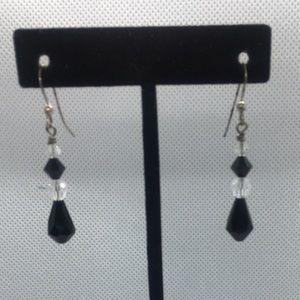 4 for $12: Dangling Black beaded earrings